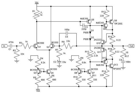 lifier transistor sederhana 30w class ab lifier circuit diagram world