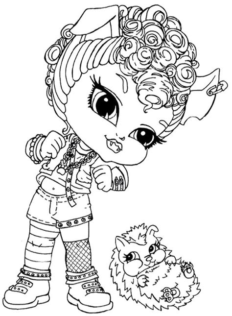 clawdeen wolf seated on a bench coloring pages hellokids com 257 best printables for grandkids images on pinterest