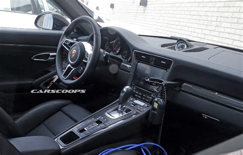 new porsche 911 interior interior of facelifted porsche 911 spied gtspirit