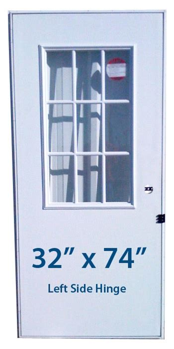 32x74 Exterior Door Mobile Home Cottage Door 32x74 Lh Left Hinge Doors With Window