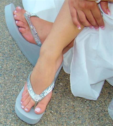 Comfortable Wedge Bridal Shoes Breeze Sequin Amp Crystal Bridal Flip Flops Elegant Bridal