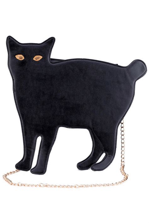 Cat Shaped by Cat Shaped Black Bagfor Romwe