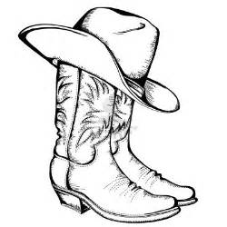 cowboy boot coloring pages clipart best