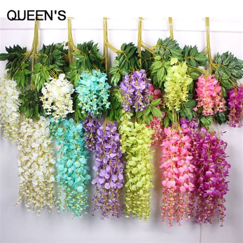 110cm silk wisteria garland artificial wisteria flower