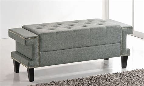 tufted end of bed bench madeline tufted end of bed bench groupon goods