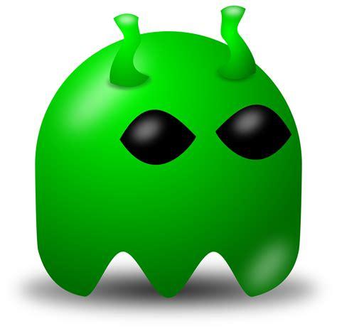 free green free vector clipart illustration of green alien avatar