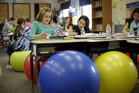 teachers ditch student desk chairs for balls the