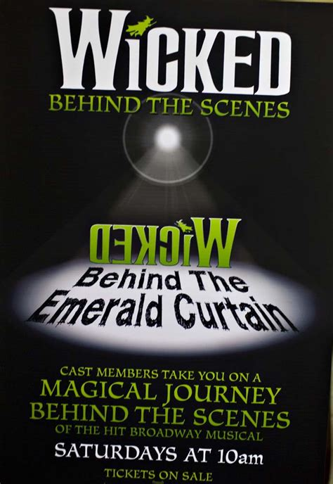 behind the emerald curtain behind the emerald curtain tour see how wicked gets