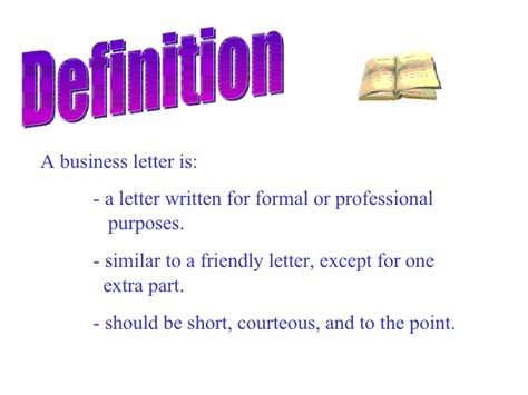 Simplified Business Letter Definition business letter