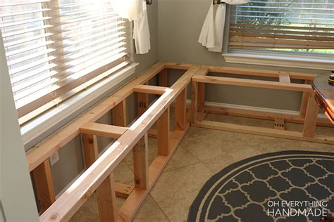 how to make a kitchen nook bench how to build a kitchen nook bench oh everything handmade