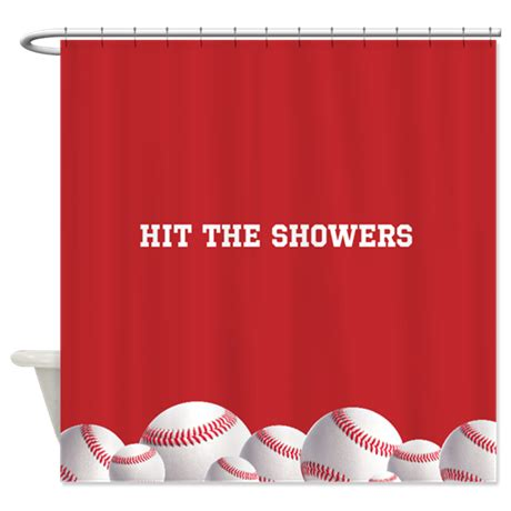Baseball Shower Curtains Baseball Shower Curtain By Inspirationzstore