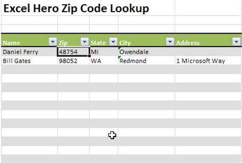 us area code exle excel zip code lookup microsoft excel