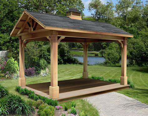open gazebo cedar gable roof open rectangle gazebos with treated