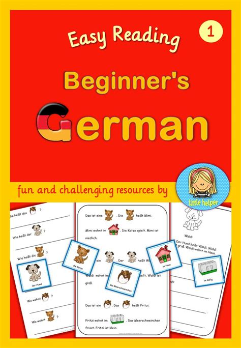 german for beginners with german for beginners easy reading texts and worksheets texts kid and reading