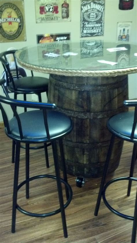 how to a whiskey barrel table whiskey barrel table whiskey barrels