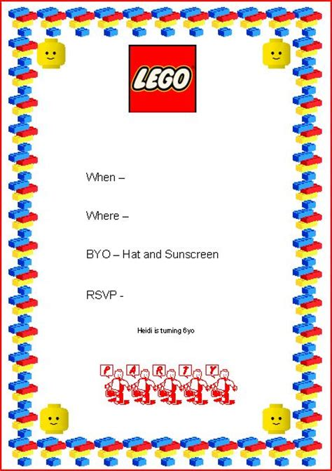 free lego templates lego invitation coloring pages