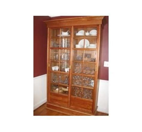 custom made china cabinets custom solid cherry china cabinet by the plane edge llc
