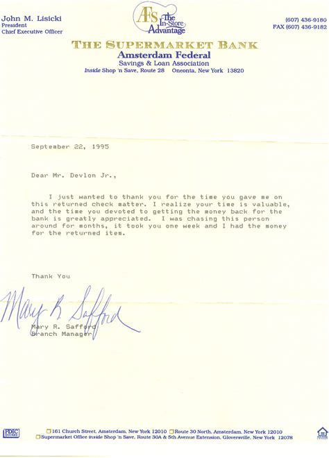 Loan Thank You Letter Elect Rich Devlin Jr For Otsego County Sheriff 2006