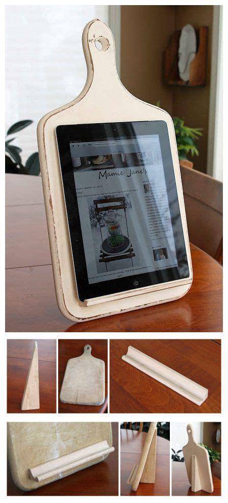 kitchen tablet holder diy pinterest