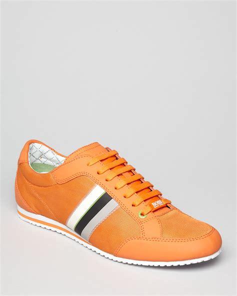 orange sneakers hugo green victoire sneakers in orange