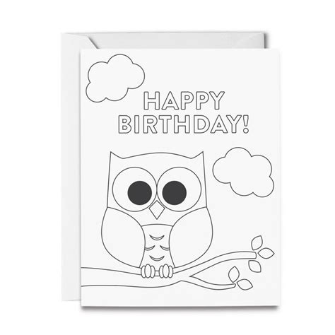 happy birthday owl coloring pages 40 best images about shop tickled peach studio on