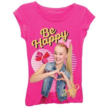 Sleeve Glitter T Shirt jojo siwa quot be happy quot sleeve graphic t shirt