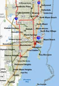 map of ta florida and surrounding cities miami florida map