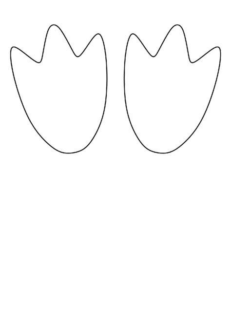 penguin feet template printable