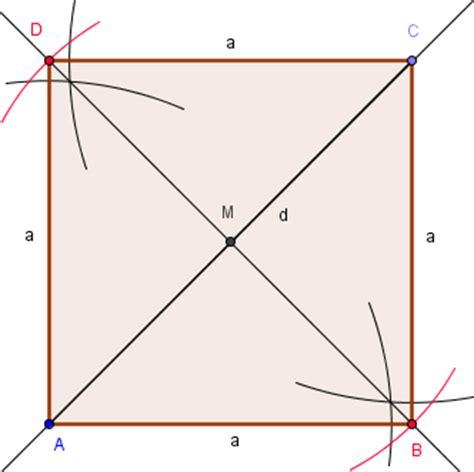 Beschriftung Quadrat by Diagonalenl 228 Nge Gegeben
