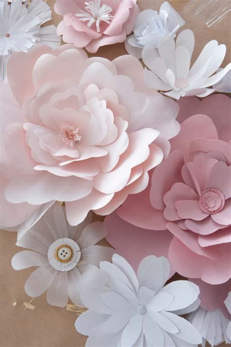 Flowers With Papers - diy paper flowers the budget decorator