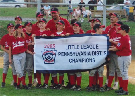 pa little league sectionals league history all star district section and state