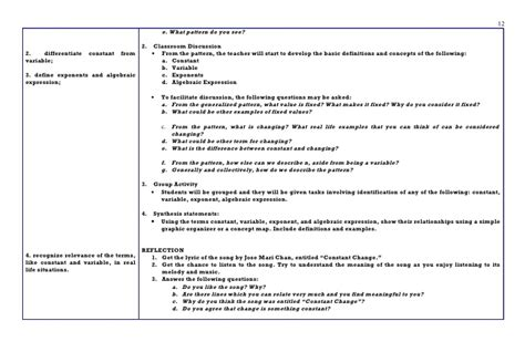 kud lesson plan template sle of differentiated lesson plan for math how to