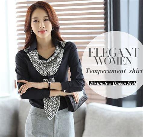 Collar Dress Dress Kantor baju kantor pakaian kerja wanita resmi model terbaru shirt