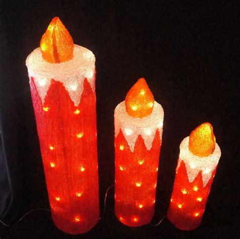 fy 001 h10 christmas acrylic candle set light bulb l