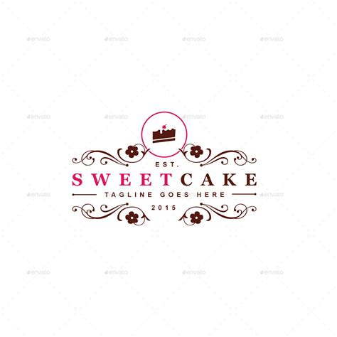 sweet cake logo template by designgarrad graphicriver