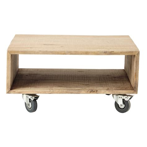 tavolino divano tavolino da divano a rotelle in legno nicolas maisons du
