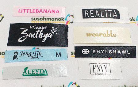Label Baju Bahan Pita Tafeta Ukuran 1 2 Inchi jenis jenis label baju serta kelebihan dan kekurangannya