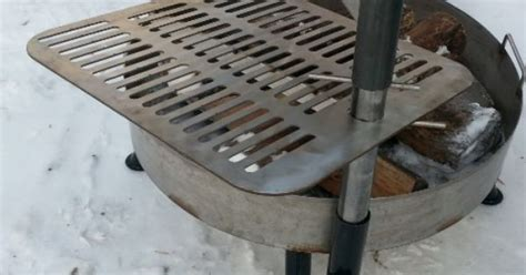 fire pit with swing out grill universal swing away grill system you can mount this to