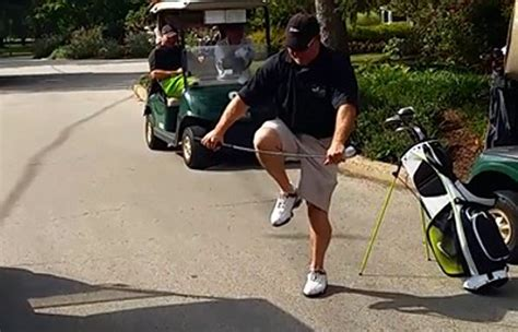 Golf Club That Breaks When You Swing snaps golf clubs in epic meltdown daily