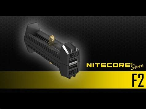 Nitecore Charger Baterai With Power Bank F2 nitecore f2 dual slot power bank charger for li ion imr 18650 16340 14500 batteries