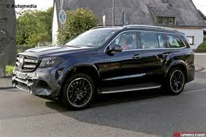 mercedes amg gls 63 spied while being tested