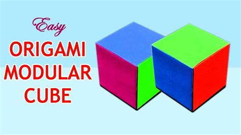 How To Make A 3d Cube On Paper - how to make an origami cube origami modular cube make