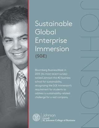 Mba Global Immersion by Johnson At Cornell Two Year Mba Sustainable Global