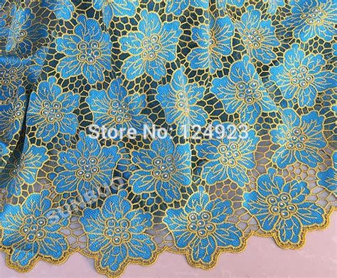 lace material asoebi lace material asoebi free shipping new fashion gold
