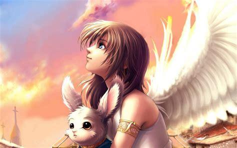 anime girl angel wings anime angel wings wallpaper free desktop i hd images