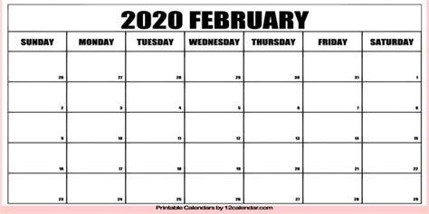 february  calendar printable holidays united states