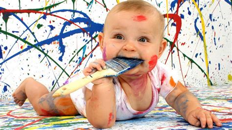 No Substitute For Getting Your Child S Hands Dirty Parents Co Blog Children Painting Images