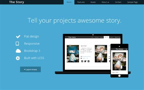 story bootstrap template free download bootstrap themes free download 50 premium