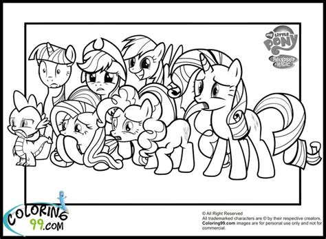 my little pony mane six coloring pages 162 best coloring book images on pinterest coloring book