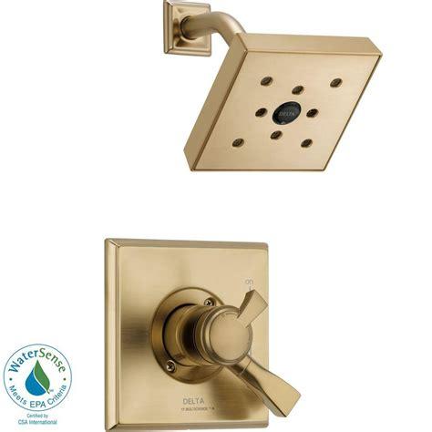 Delta Dryden Shower by Delta Dryden 1 Handle H2okinetic Shower Only Faucet Trim Kit In Chagne Bronze Valve Not